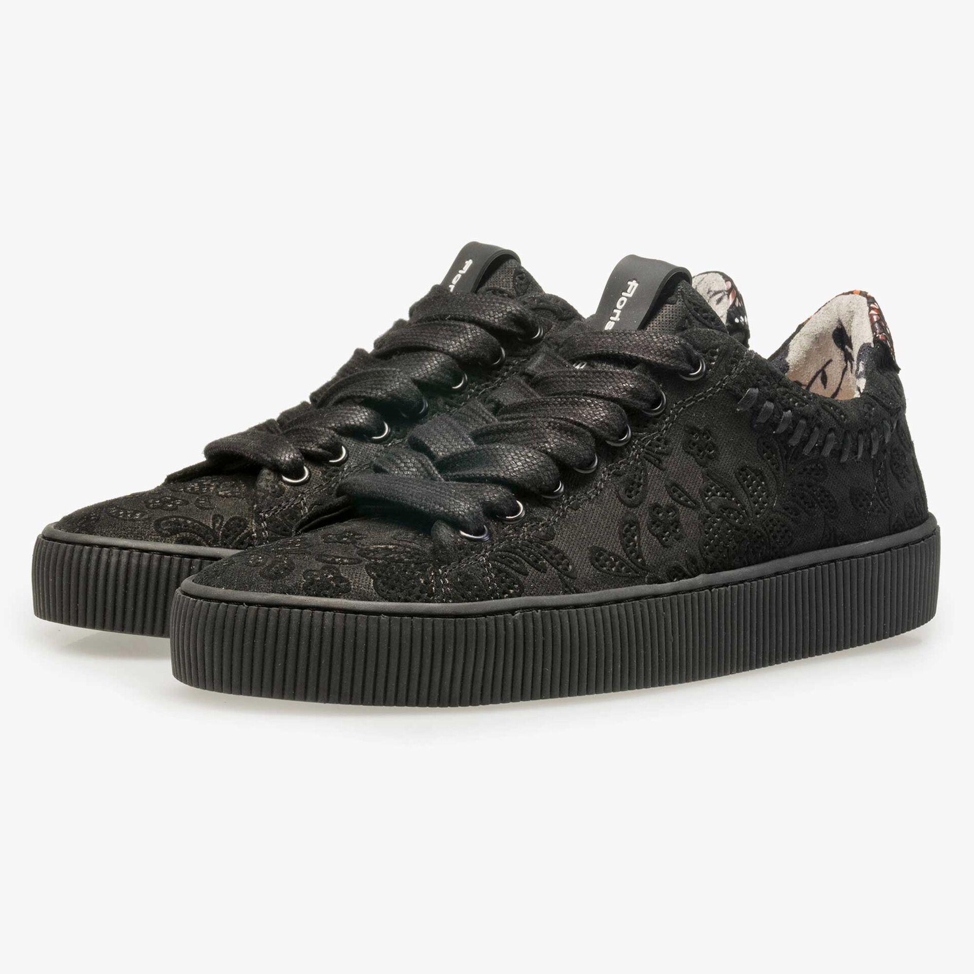 Floris van Bommel schwarzer Wildleder Sneaker