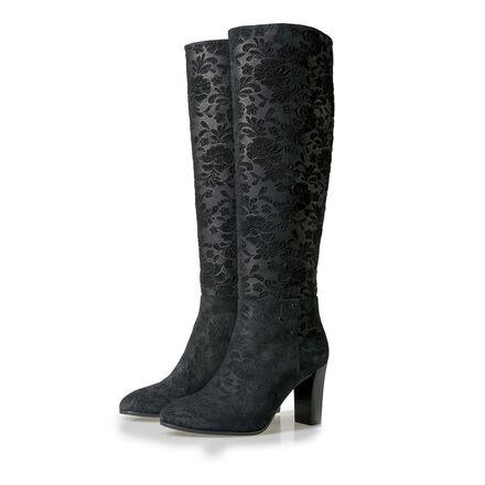 Floris van Bommel women's suede leather boots