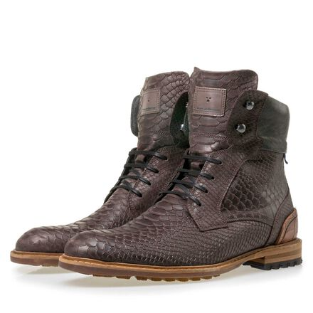 High men's lace boot