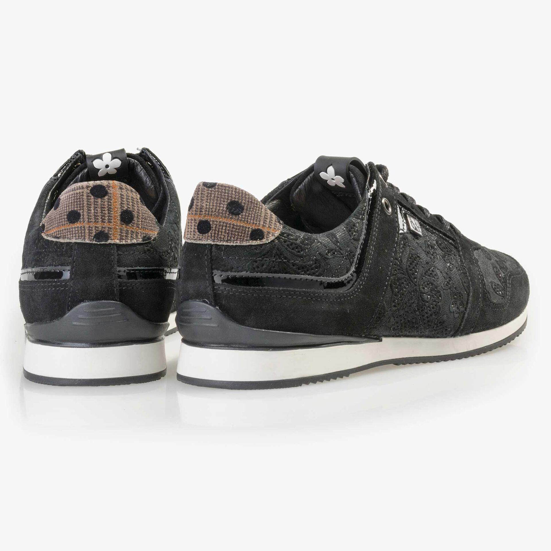 Floris van Bommel schwarzer Damen Wildleder Sneaker