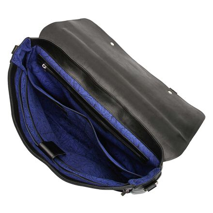 Floris van Bommel black leather business bag