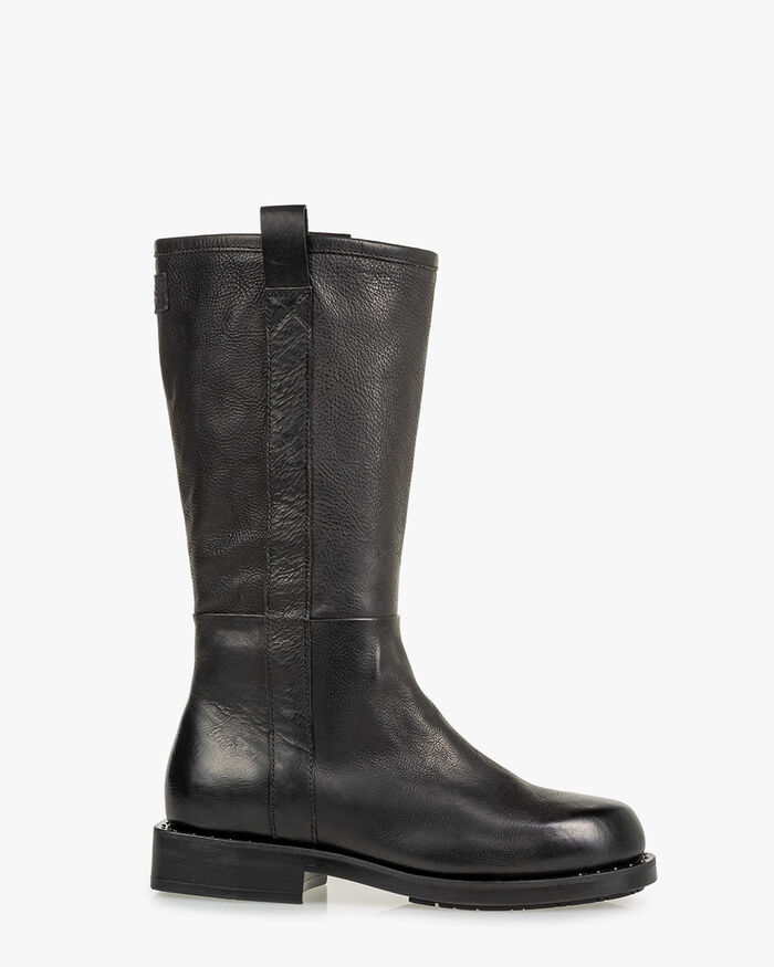 Boot calf leather black