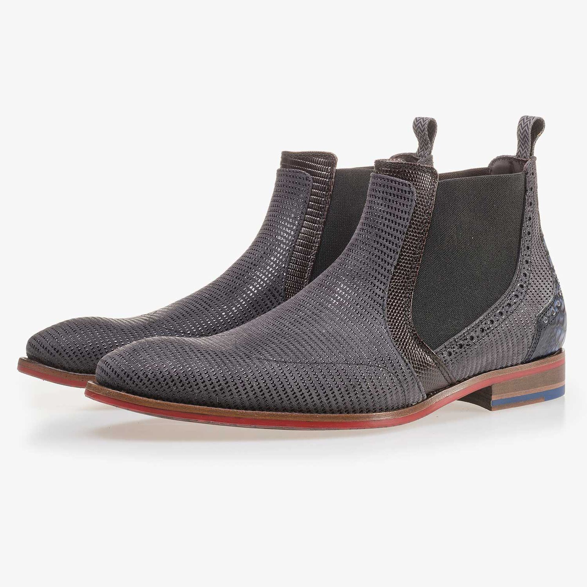 Dark grey suede leather Chelsea boot