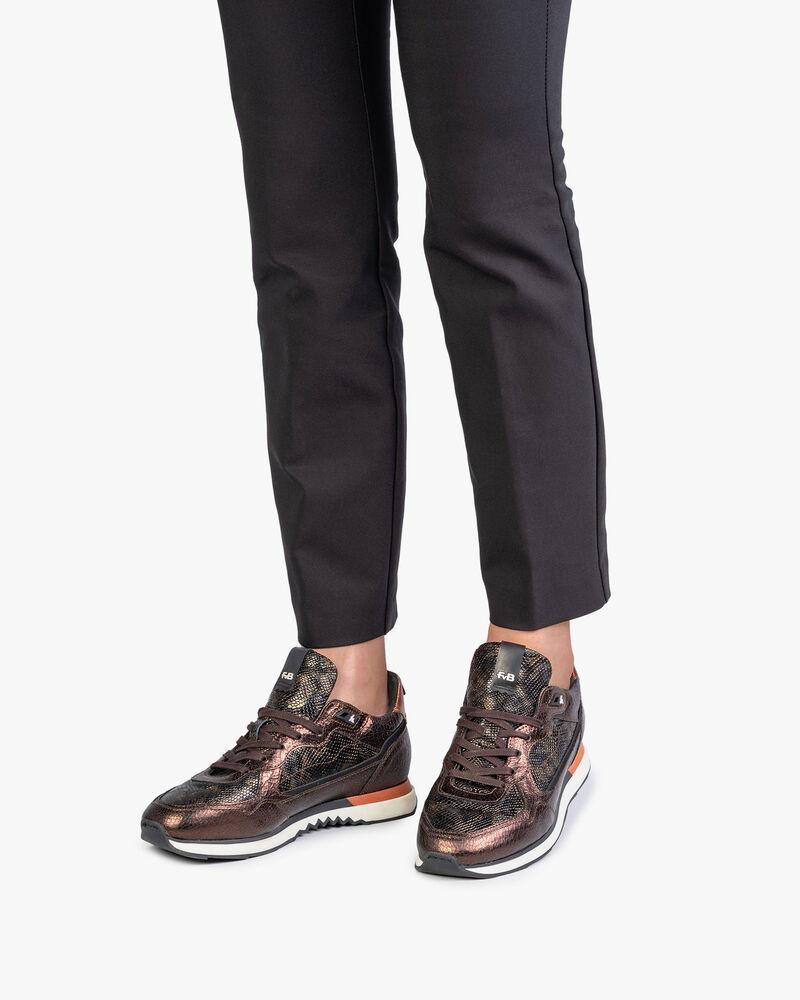 Sneaker dark brown leather
