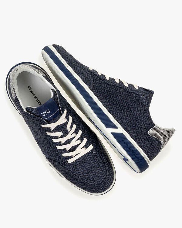 Sneaker nubuck leather blue