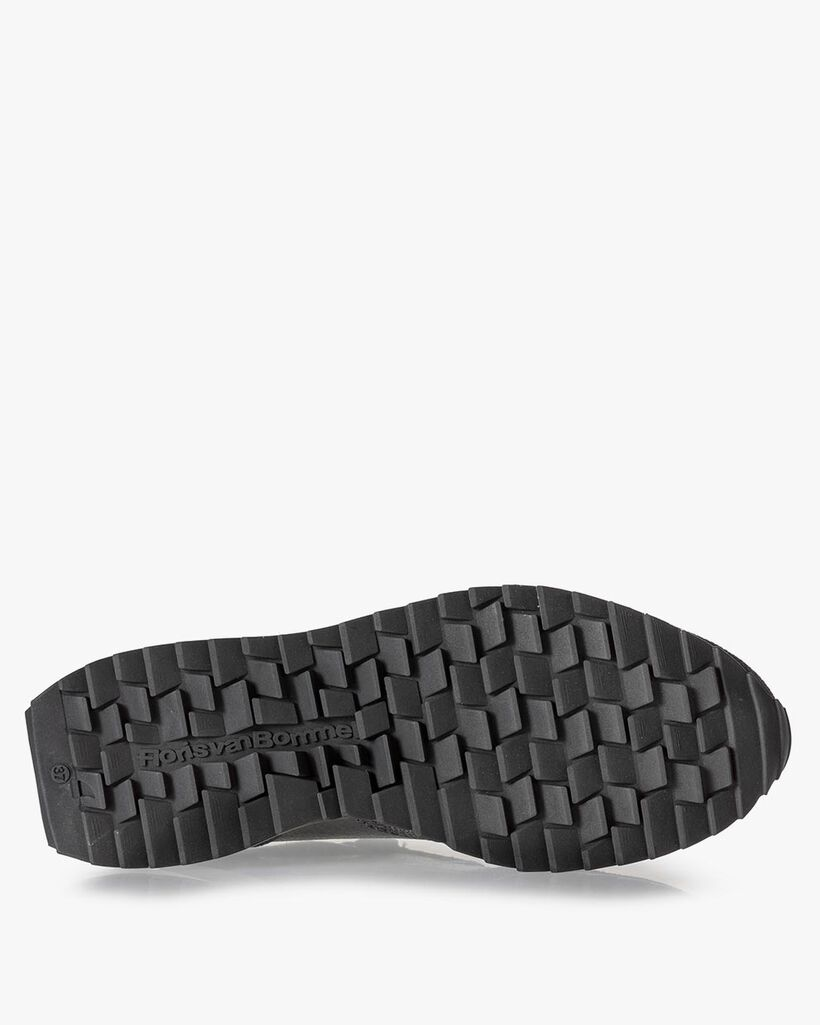 Sneaker Wildleder-Print grau
