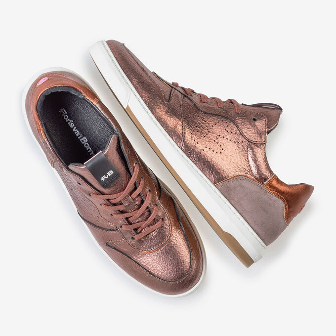 Sneaker Craquelé Leder rosa