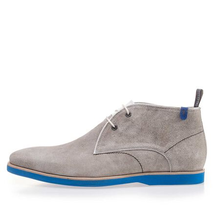 Washed suede leather lace boot