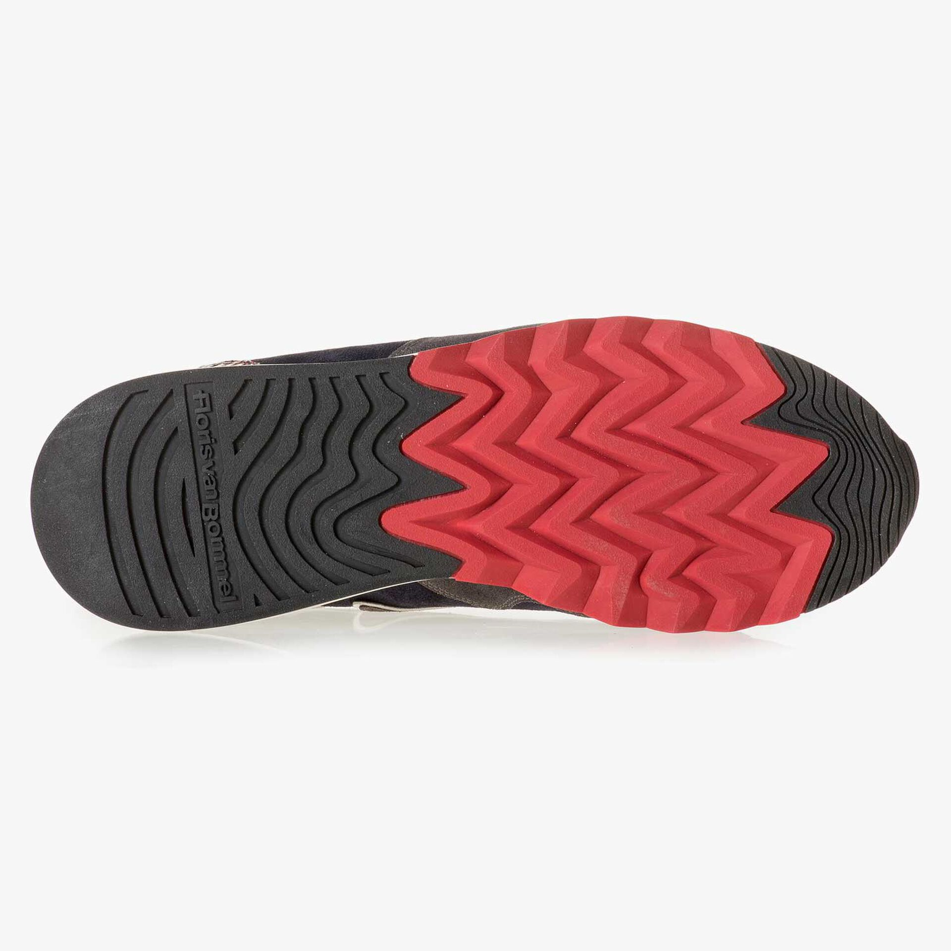 Grau-roter Wildleder-Sneaker