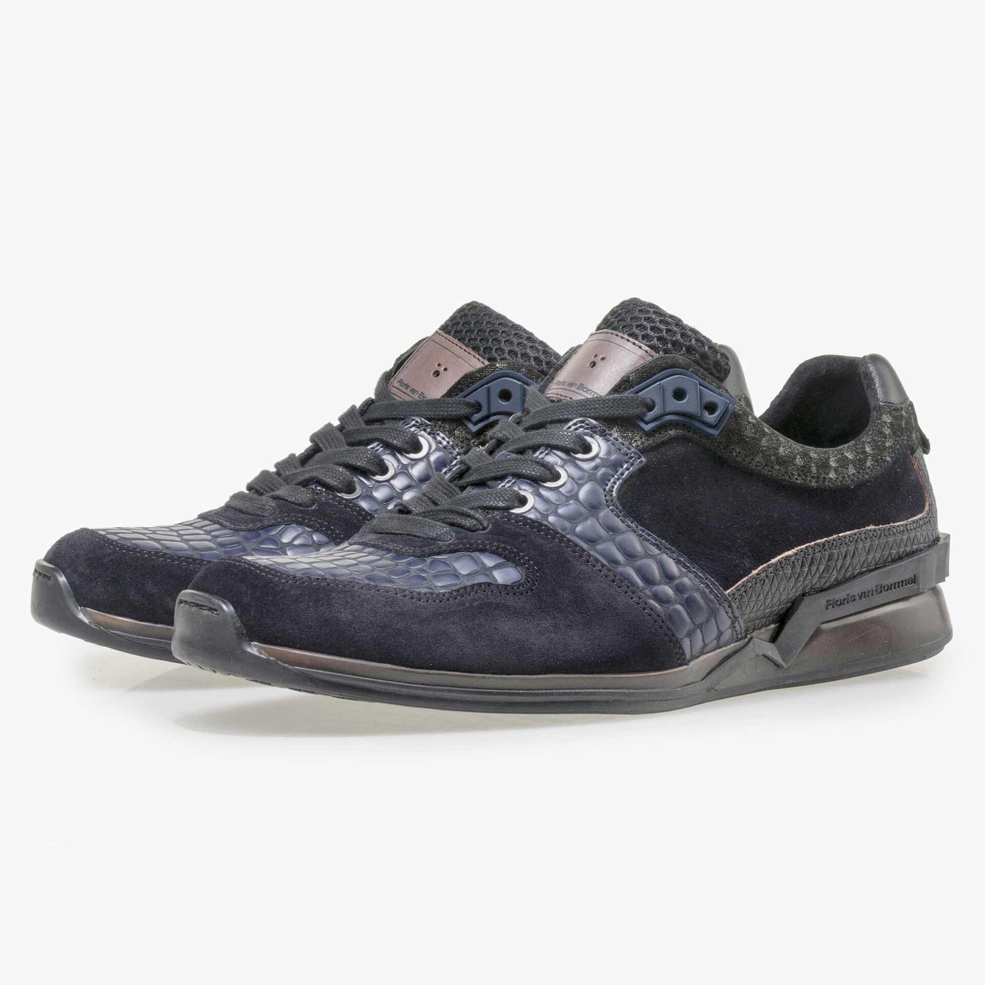Floris van Bommel Premium dark blue leather sneaker