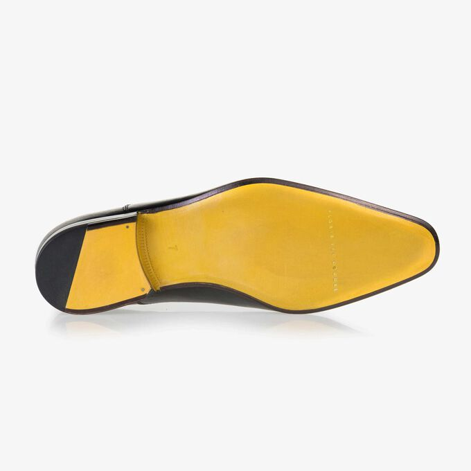 Floris van Bommel black leather men's lace-up shoe