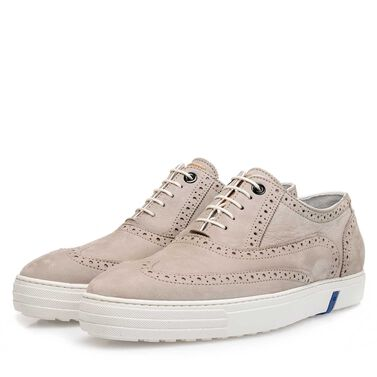 Nubuck leather brogue shoe