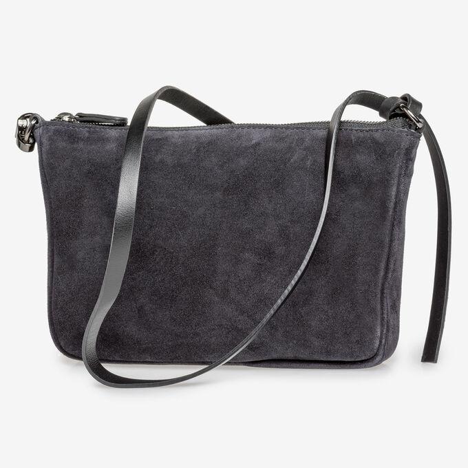 Black suede leather bag