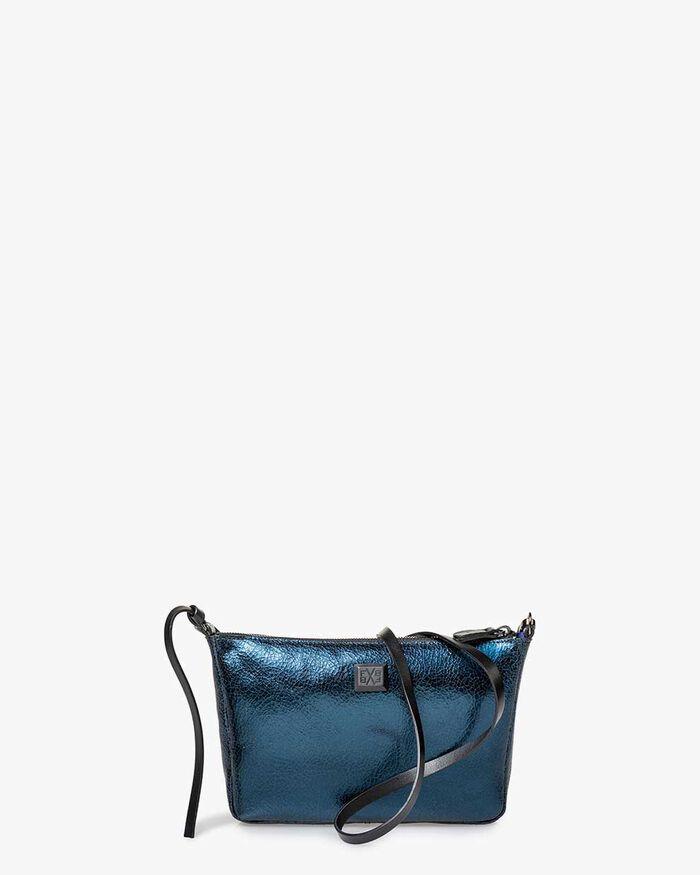 Crossbody-Tasche Leder blau