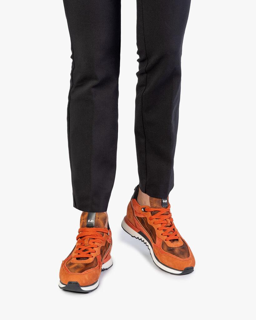 Sneaker nubuck leather rust