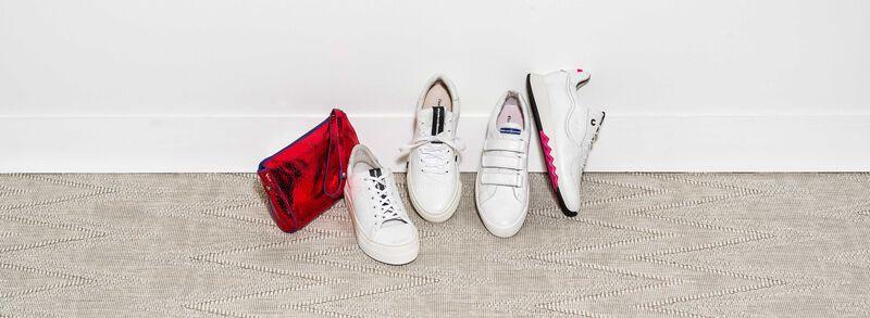 Floris van Bommel - Weißer fein strukturierter Kalbsleder-Sneaker - 2