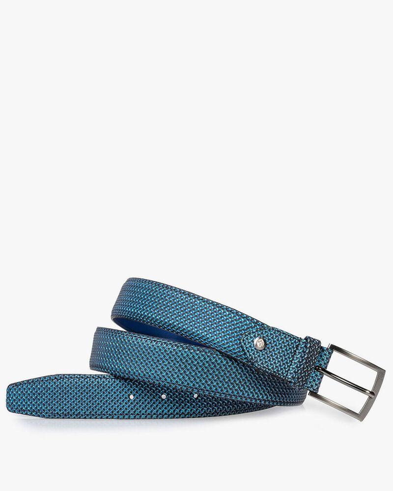 Gürtel blau metallic