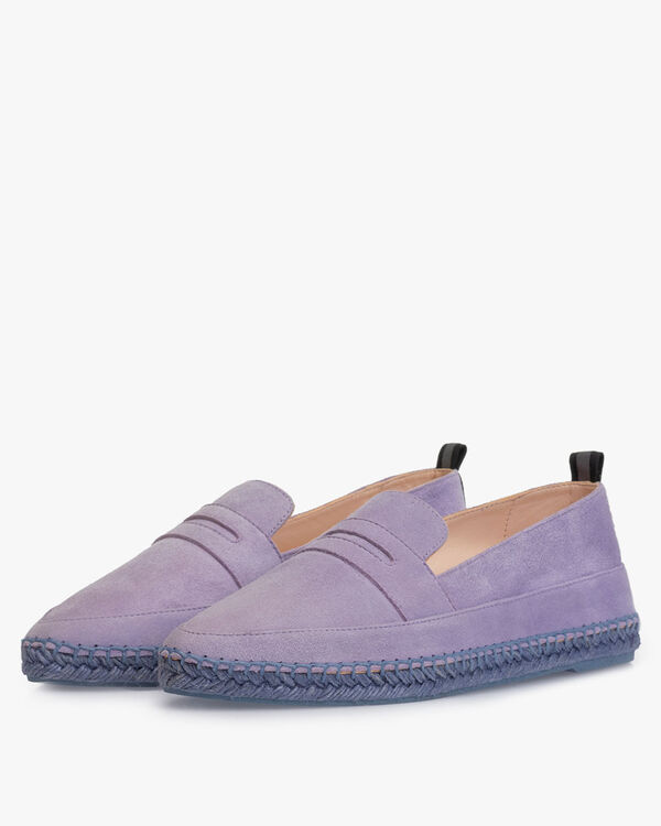 Espadrille Wildleder violett