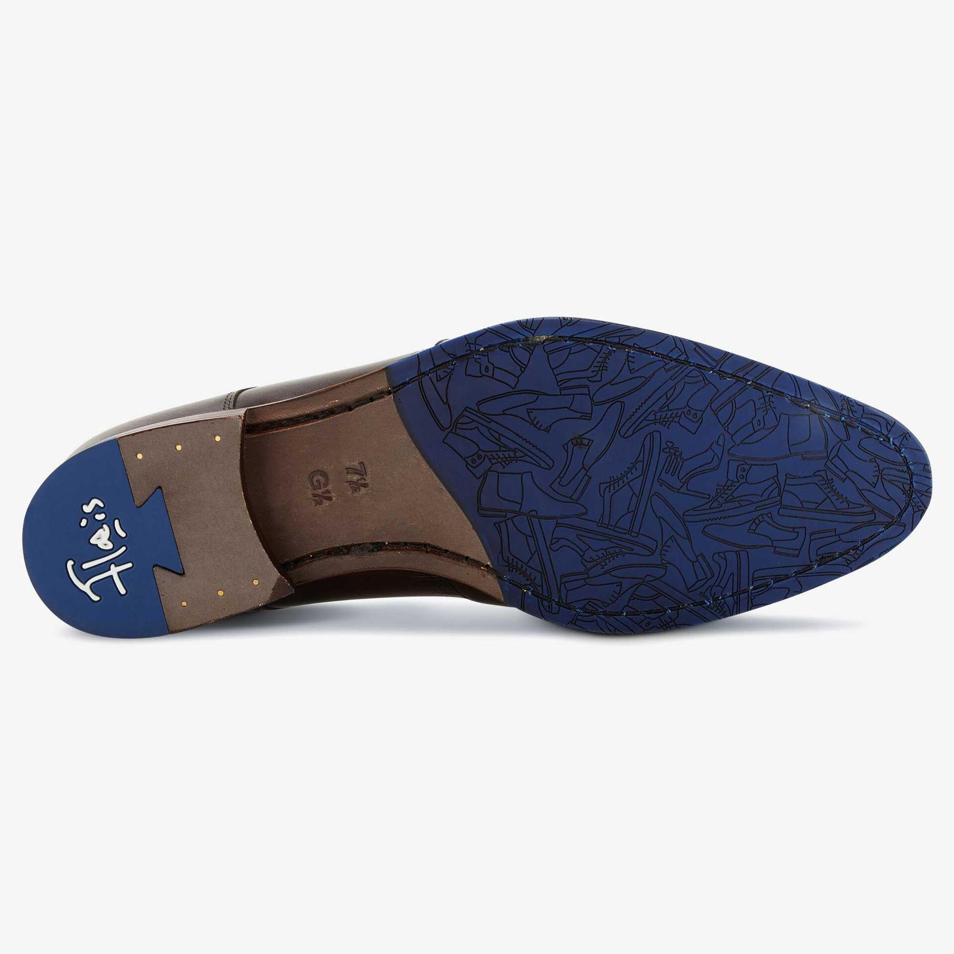Floris van Bommel dark brown leather men's lace shoe