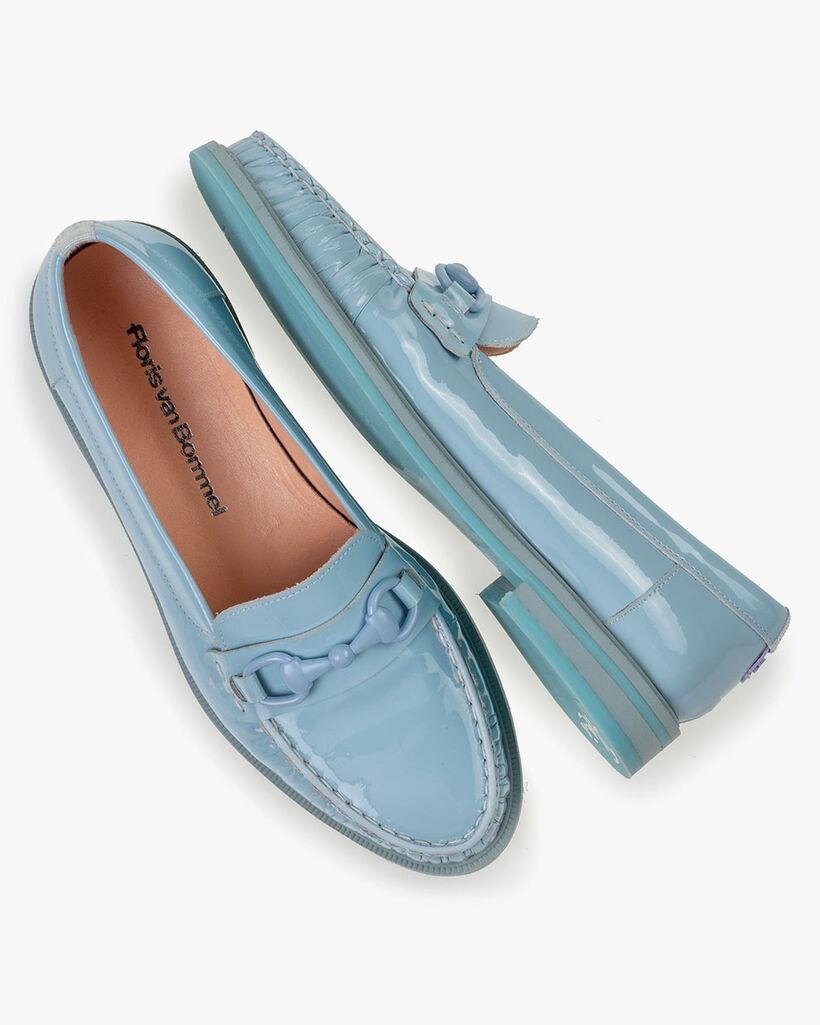 Loafer Lackleder hellblau
