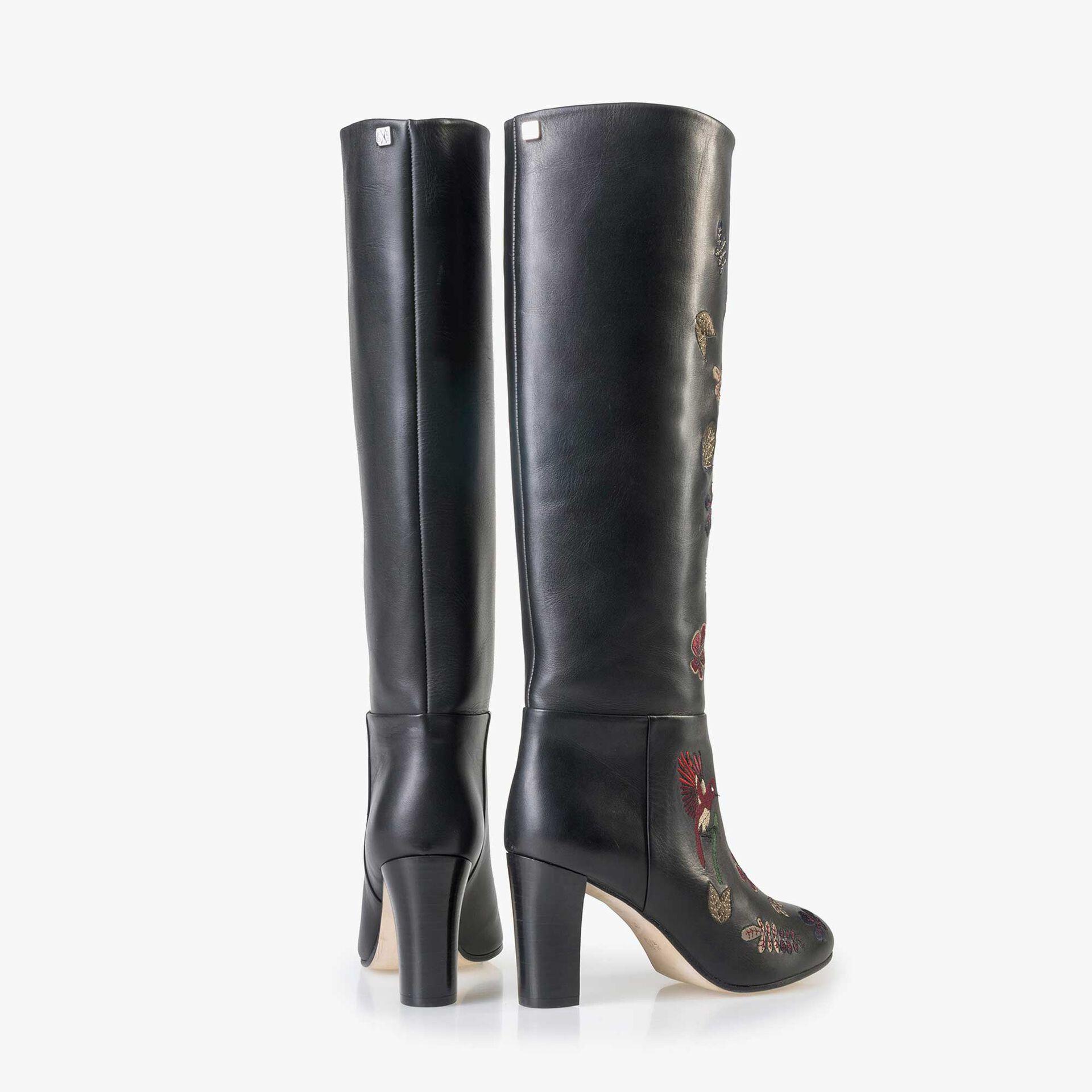 Floris van Bommel schwarze Damen Leder Stiefel