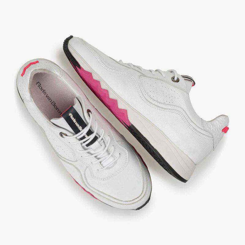 Floris van Bommel - Weißer fein strukturierter Kalbsleder-Sneaker - 4