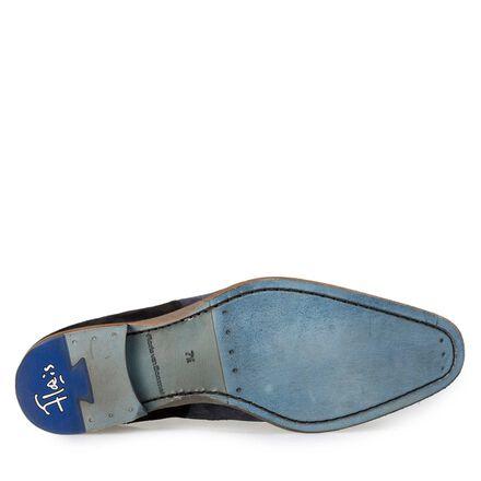 Floris van Bommel suede leather patchwork lace shoe