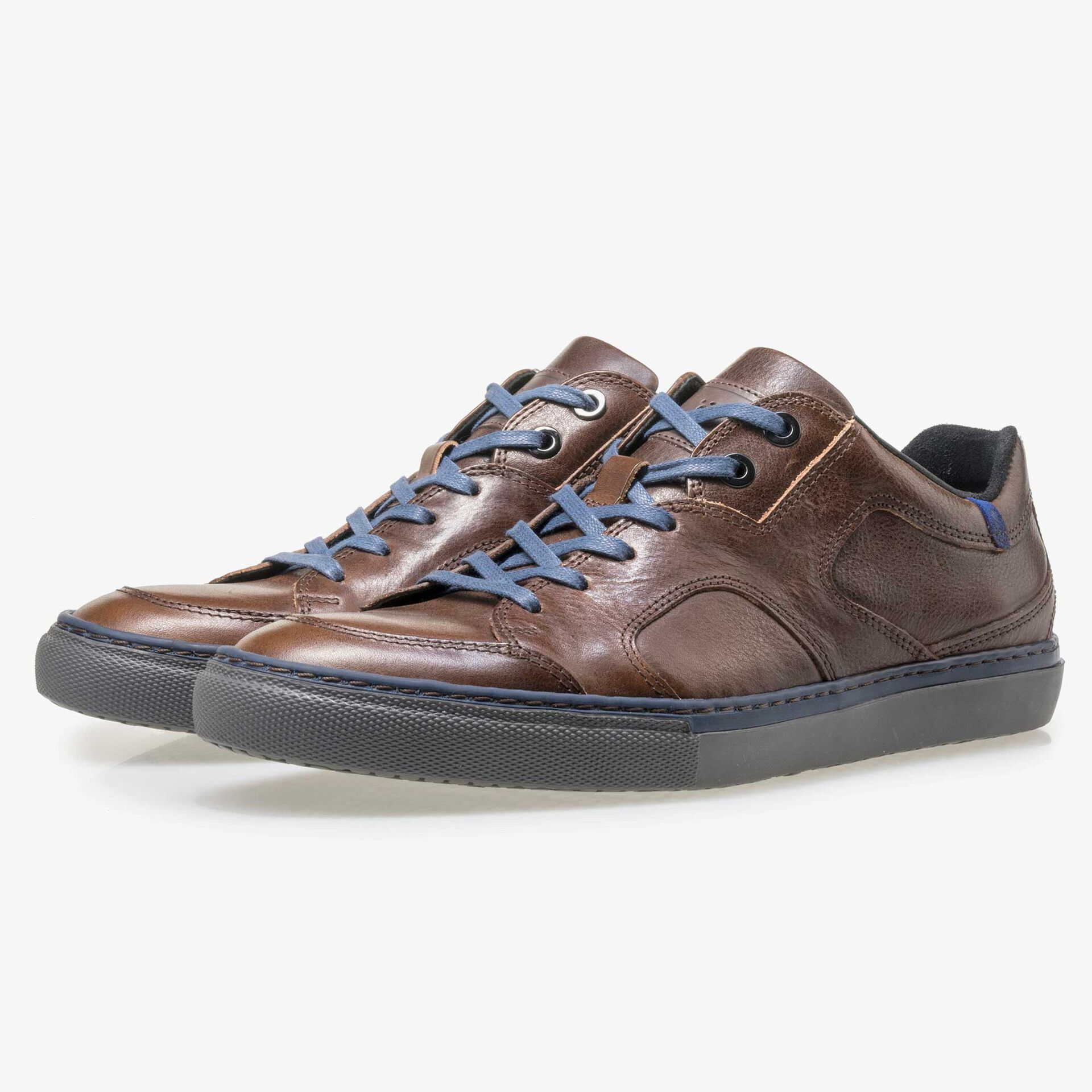 Floris van Bommel men's brown leather sneaker
