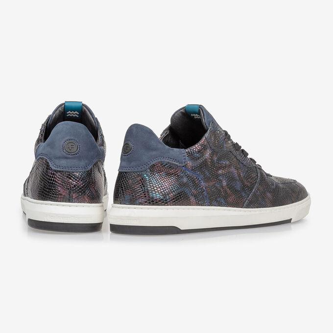 Sneaker Schlangenprint blau