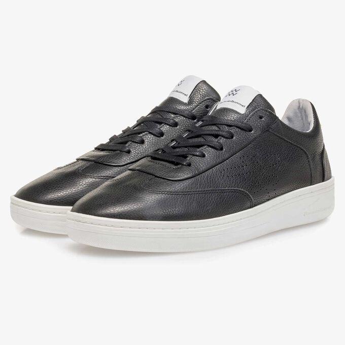 Schwarzer Leder-Sneaker