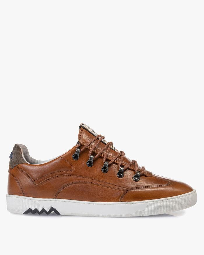 Hiking-Sneaker Leder cognac