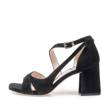 Leder Sandale mit Keilabsatz