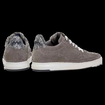 Sneaker mit Print Wildleder grau