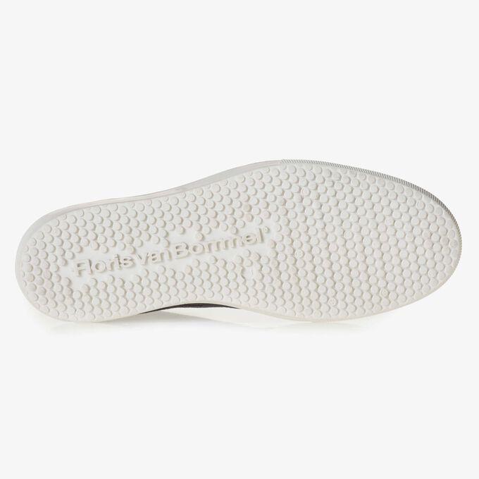 Kalbswildleder-Schnürschuh mit Muster