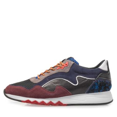 Wildleder Sneaker mit Gummi-Joggingsohle