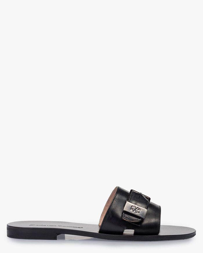 Slipper calf leather black