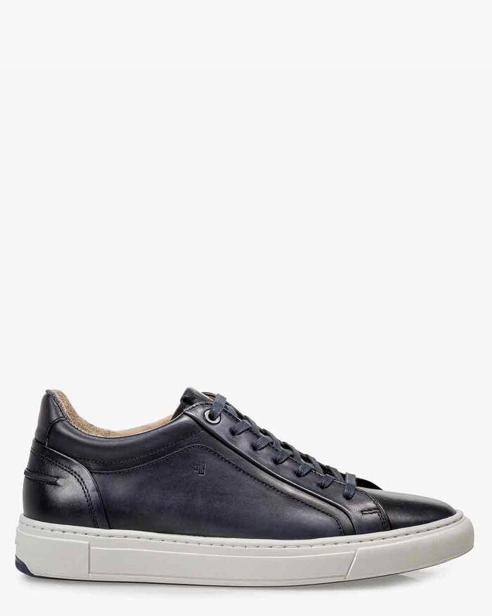 Sneaker calf leather blue