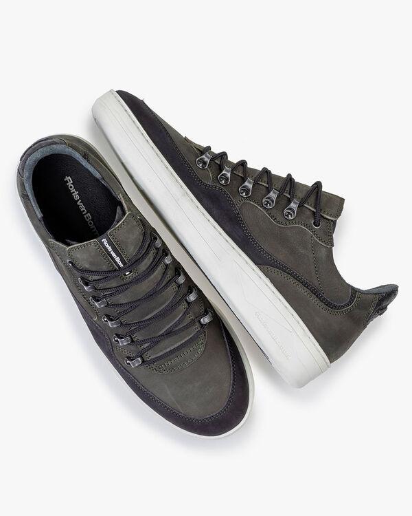 Sneaker Nubukleder dunkelgrün