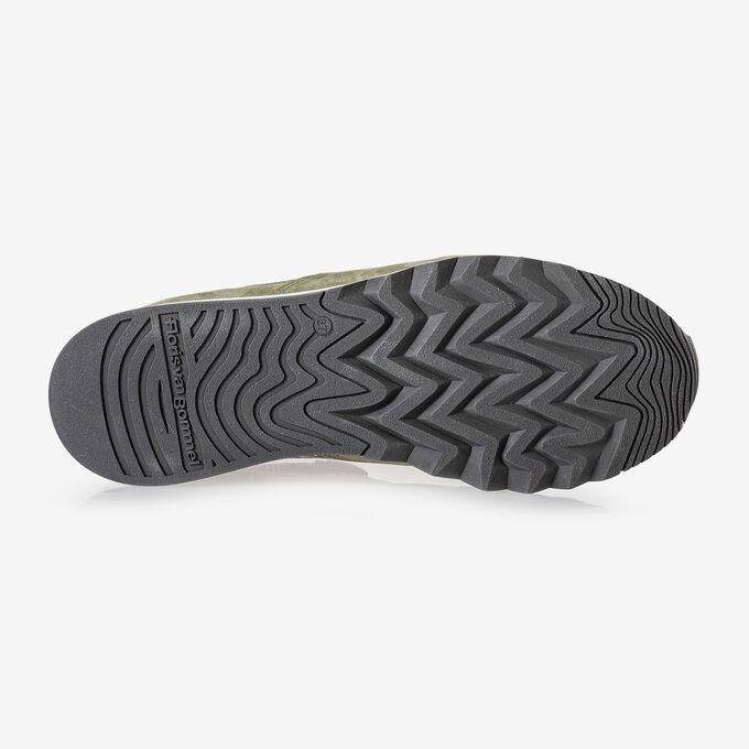 Leder-Sneaker mit Gummisohle