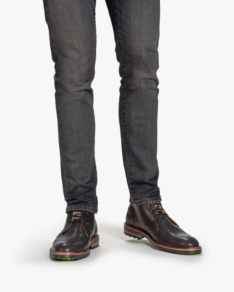 Schnürstiefel Leder schwarz