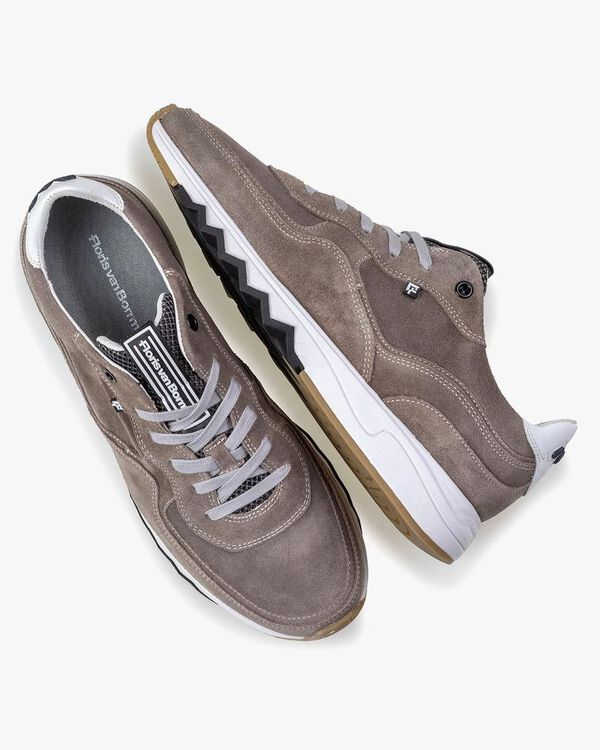 Nineti taupe suede leather