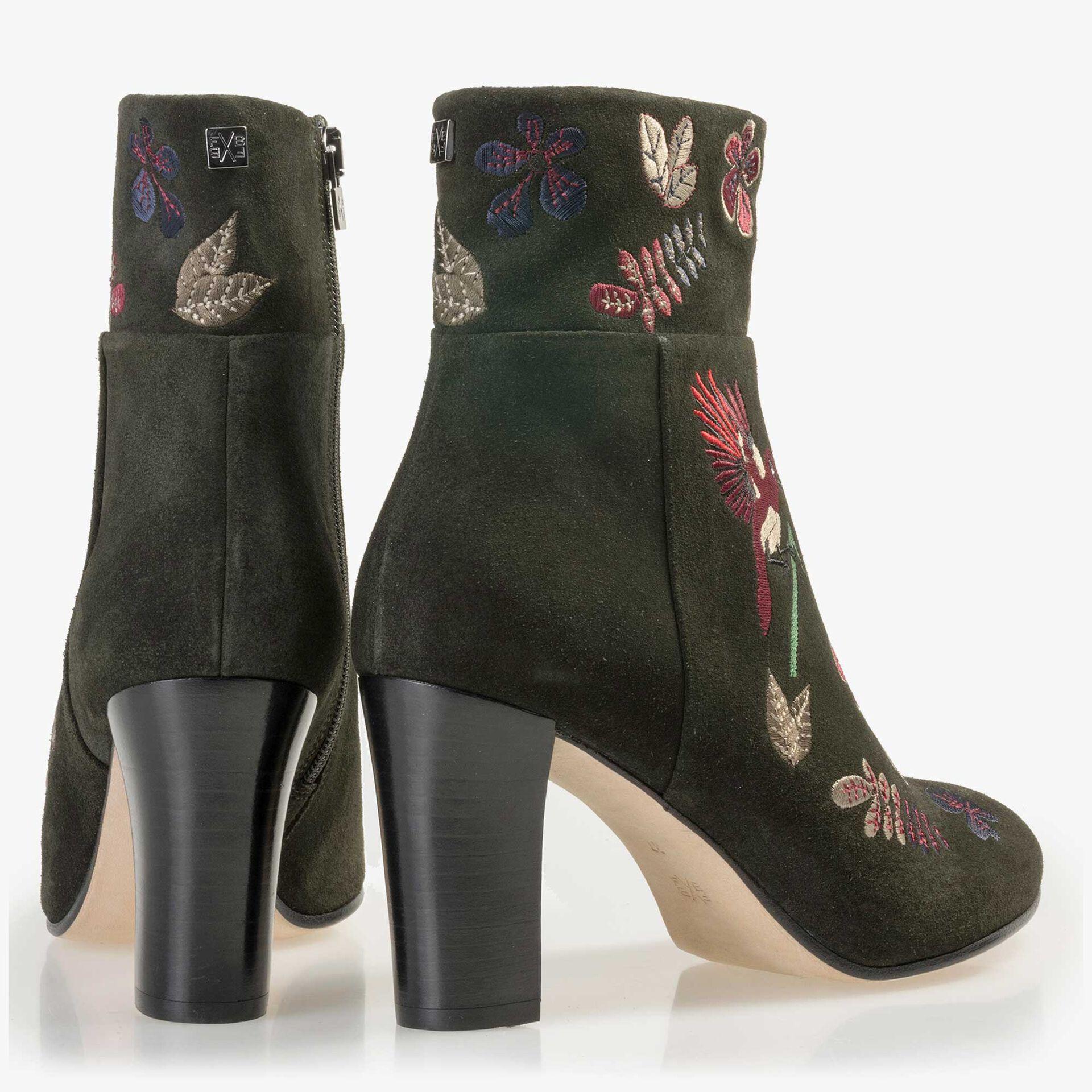 Floris van Bommel olivgrüne Wildleder Stiefelette
