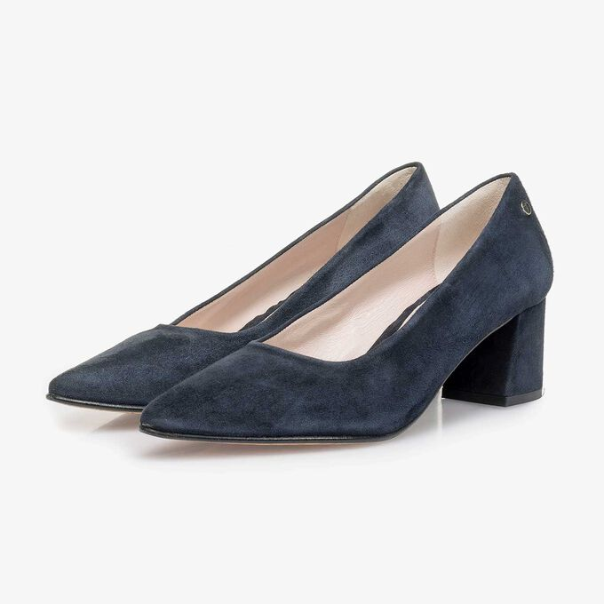 deb4461efbf06 Blue suede leather pumps 85518/02 | Floris van Bommel®