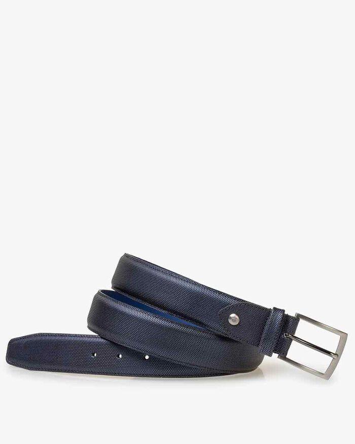 Belt metallic print blue