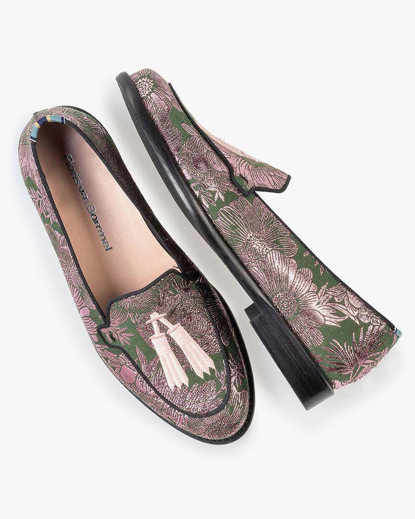 Loafer grün mit Print