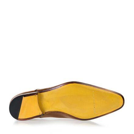 Leder-Schnürer mit gelbe Ledersohle