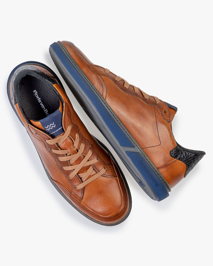 Sneaker Kalbsleder cognac