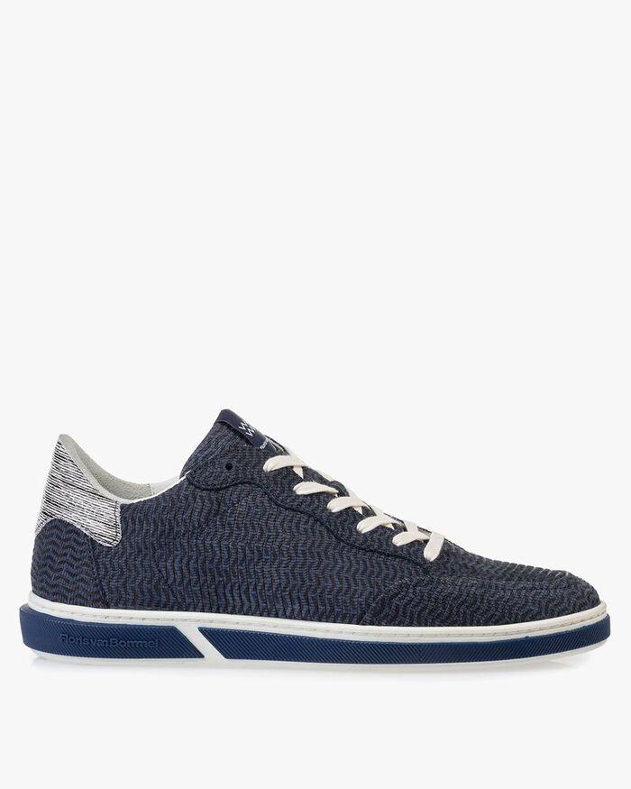 Sneaker Nubukleder blau