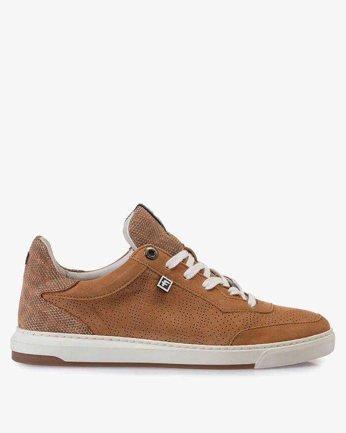 Sneaker nubuck leather cognac