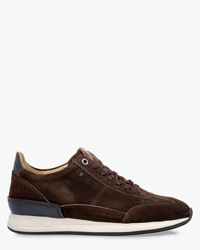 Sneaker suede dark brown